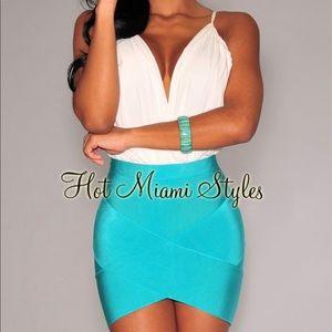 Hot MiAmi Styles arched bandage mini skirt NEW